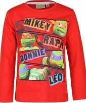Feest ninja turtles t-shirt rood