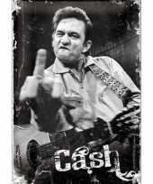 Feest nostalgische muurplaat johnny cash 20 x 30 cm