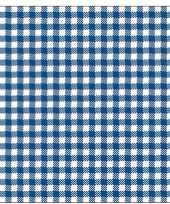 Feest oktoberfest 40x geruite blauw witte servetten 33 x 33 cm