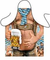 Feest oktoberfest tiroler bierbuik schort