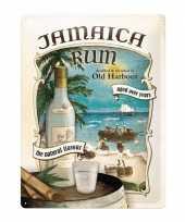 Feest old harbour poster muurdecoratie jamaica rum 30 x 40 cm