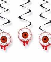 Feest oogbollen hangdecoraties 3 stuks