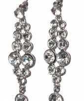 Feest oorbellen met nep diamantjes