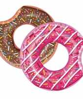 Feest opblaasbare chocolade donut 107 cm