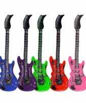Feest opblaasbare gitaar blauw 55 cm