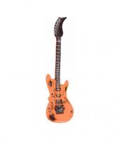 Feest opblaasbare gitaar oranje 55 cm