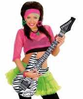Feest opblaasbare gitaar zebra 105 cm