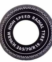 Feest opblaasbare zwarte band 90 cm