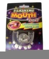 Feest oplichtend scheve tanden gebit led lampjes