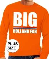 Feest oranje big holland fan grote maten sweater trui heren