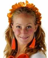 Feest oranje hawaiikrans verkleed tiara hoofdband voor dames
