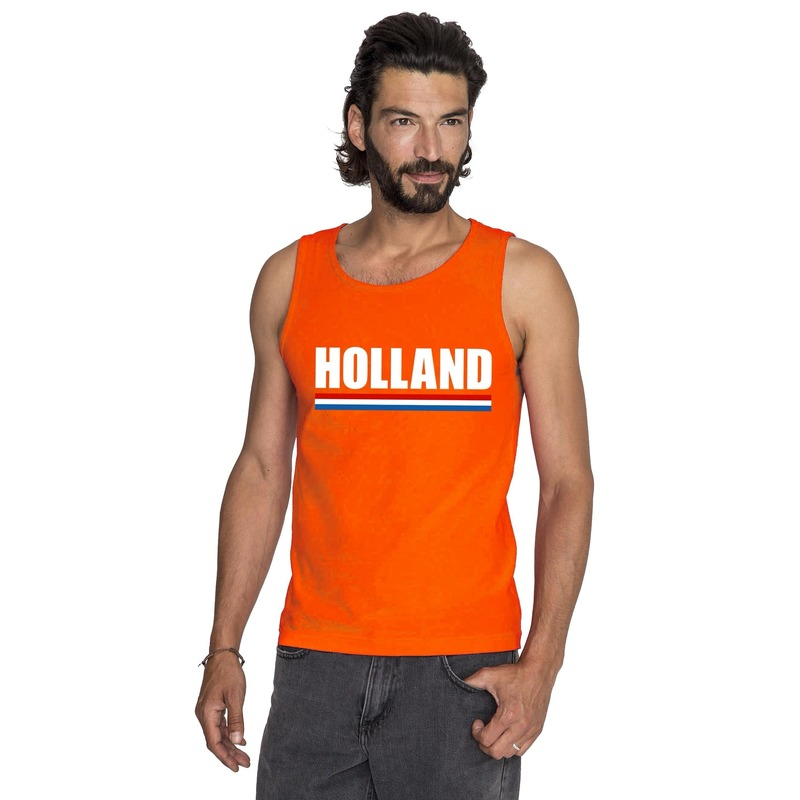 Feest oranje holland supporter tanktop heren