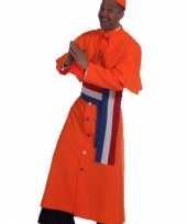 Feest oranje kardinaal kostuum heren