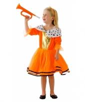 Feest oranje kleding koninginnenjurk voor kids