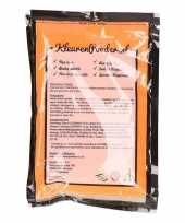 Feest oranje kleurenpoeders 100 gram