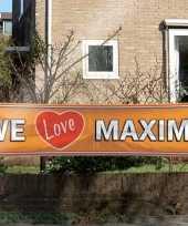 Feest oranje maxima supporters banner