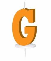 Feest oranje naam kaarsje letter g
