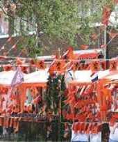Feest oranje versierings pakketten groot