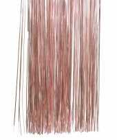 Feest oud roze kerstversiering folie slierten 50 cm