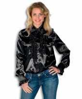 Feest overhemd met rouches voor dames 10029250