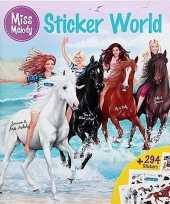 Feest paarden sticker en kleurboek miss melody 10129630