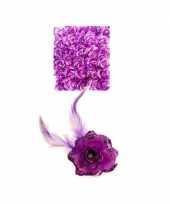 Feest paarse deco bloem met speld elastiek