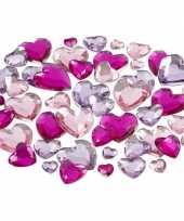 Feest paarse diamanten stenen hartjes