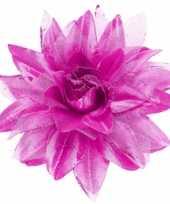 Feest paarse haarbloem met glitters