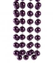 Feest paarse kerstversiering kralenketting 270 cm