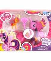Feest paarse my little pony schoenkado poppetjes