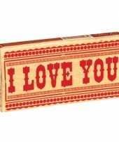 Feest pakje kauwgom met tekst i love you