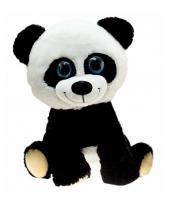 Feest pandabeer knuffel zittend 30 cm