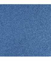 Feest papier glitter blauw vel
