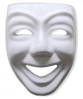 Feest papieren masker joker wit