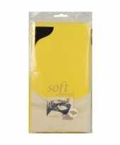 Feest pasen tafelkleed geel 120 x 180 cm vlies textiel