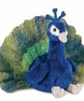 Feest pauwen speelgoed artikelen pauw knuffelbeest 30 cm