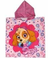 Feest paw patrol badcape roze