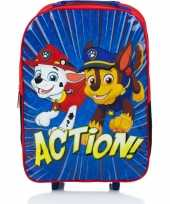 Feest paw patrol handbagage reiskoffer trolley 42 cm voor kinderen
