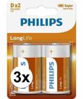 Feest phillips ll batterijen r20 1 5 volt 6 stuks