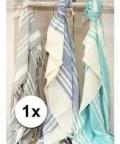 Feest picknickkleden hamamdoek blauw 200 x 240 cm