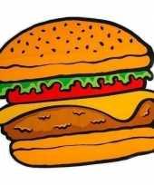Feest picknickkleed hamburger 150 x 170 cm