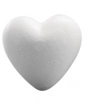 Feest piepschuim hobby hart 12 cm