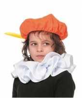Feest pieten kraag accessoires wit voor kinderen