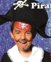 Feest piraat schminken schminkset 6 delig