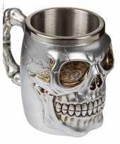Feest piraten beker met schedels 10075203