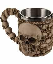 Feest piraten beker met schedels 10075209