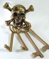 Feest piraten doodshoofd sleutels