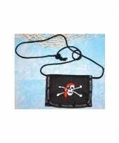 Feest piraten portemonnee aan koord