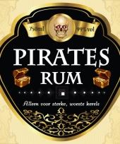 Feest piraten thema fles etiketten