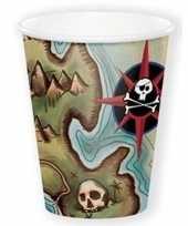 Feest piraten wegwerp bekers 8 stuks